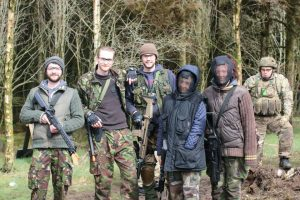 Airsoft group of mixed ages